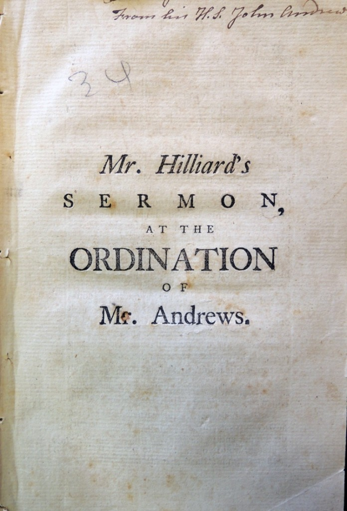 mr hilliard's sermon