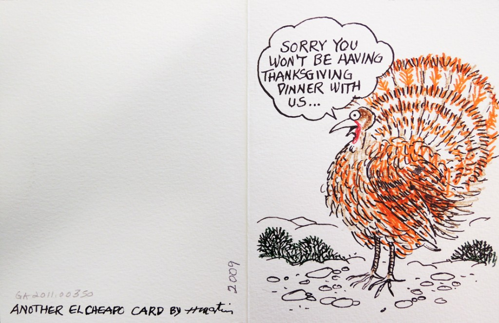 martin thanksgiving card
