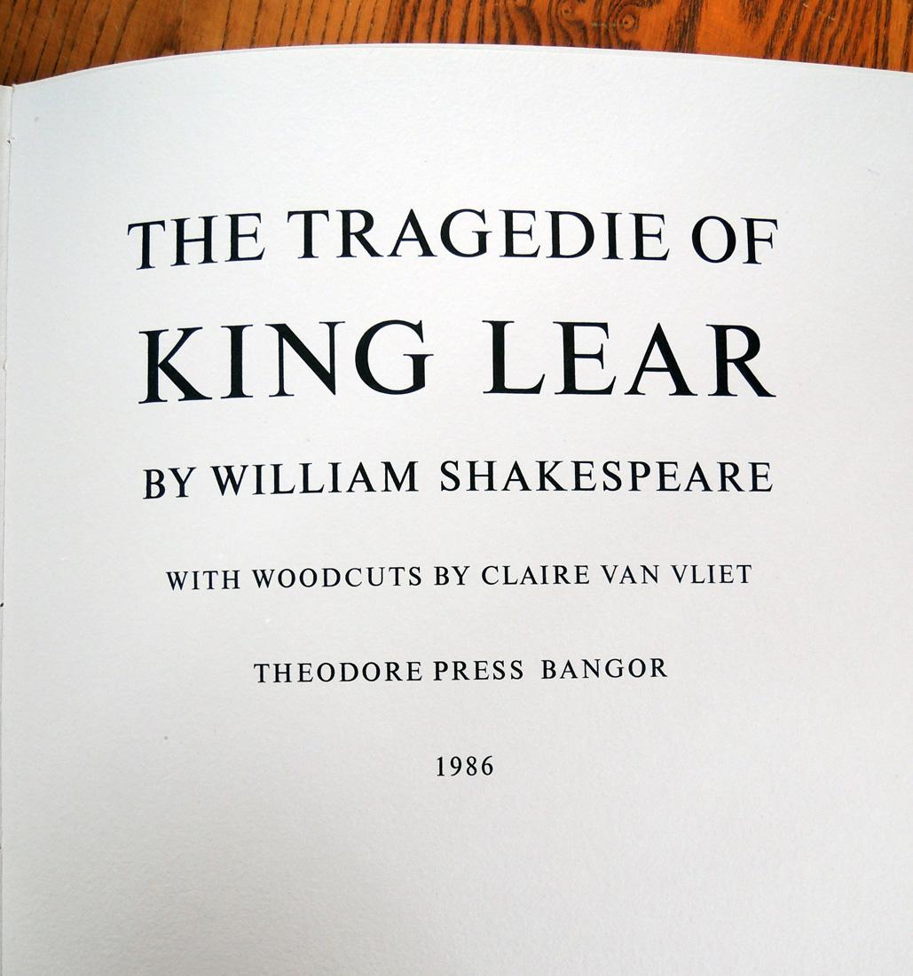 the element of universiality in william shakespeares king lear König lear (englisch the tragedy of king lear) gilt als eine der herausragenden tragödien aus der feder william shakespeares die erste fassung ist mit sicherheit nicht vor 1603, vermutlich jedoch erst 1605 entstanden.