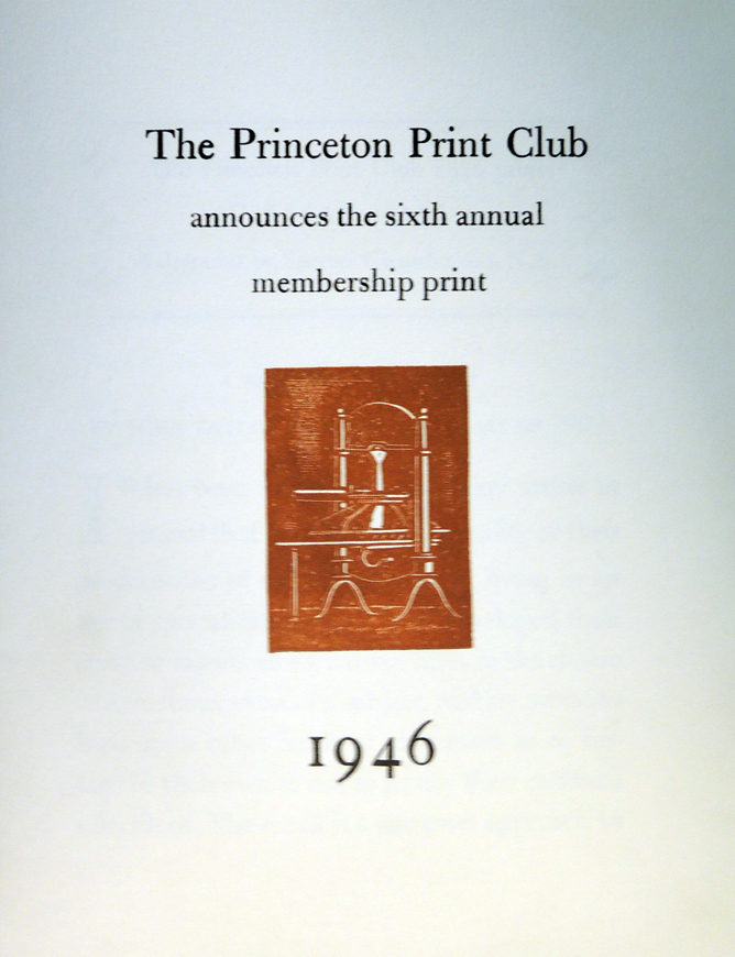 princeton print club 18