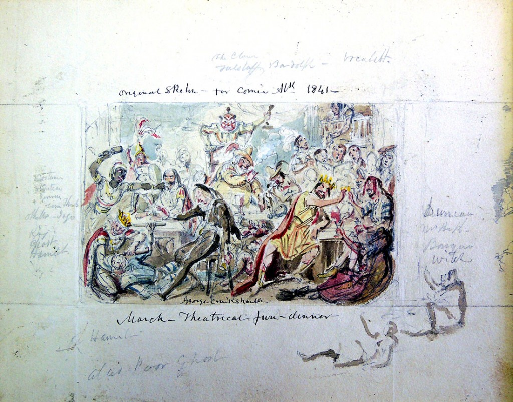 cruikshank comic almanack drawing