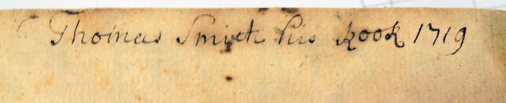 thomas smith bookplate 1707a