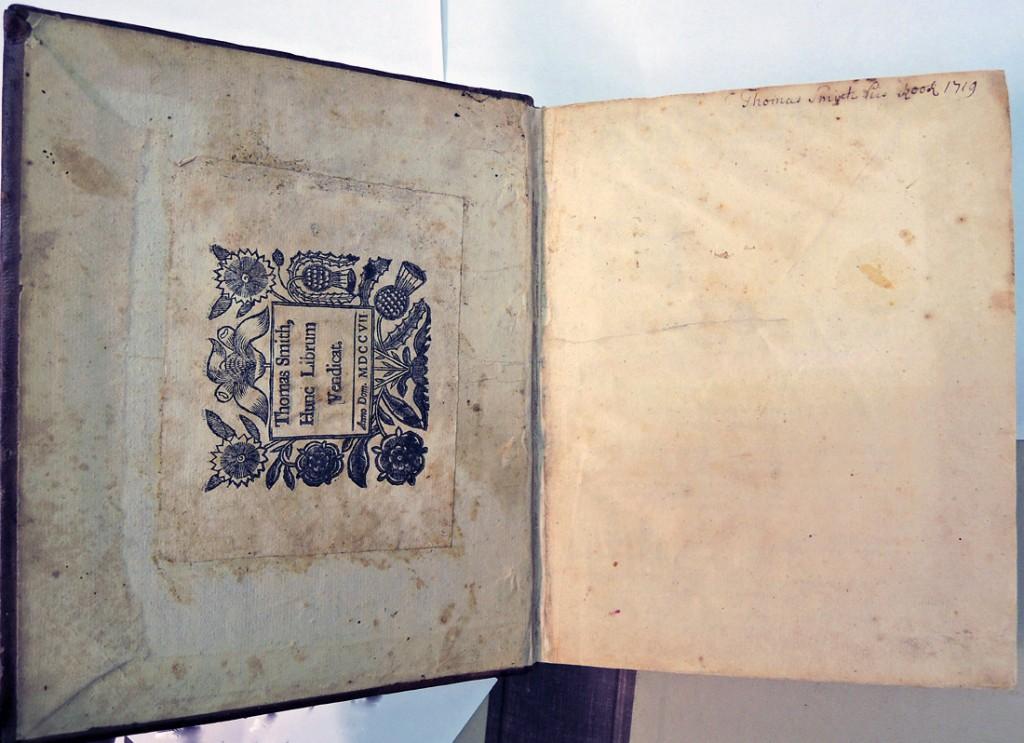 thomas smith bookplate 1707e