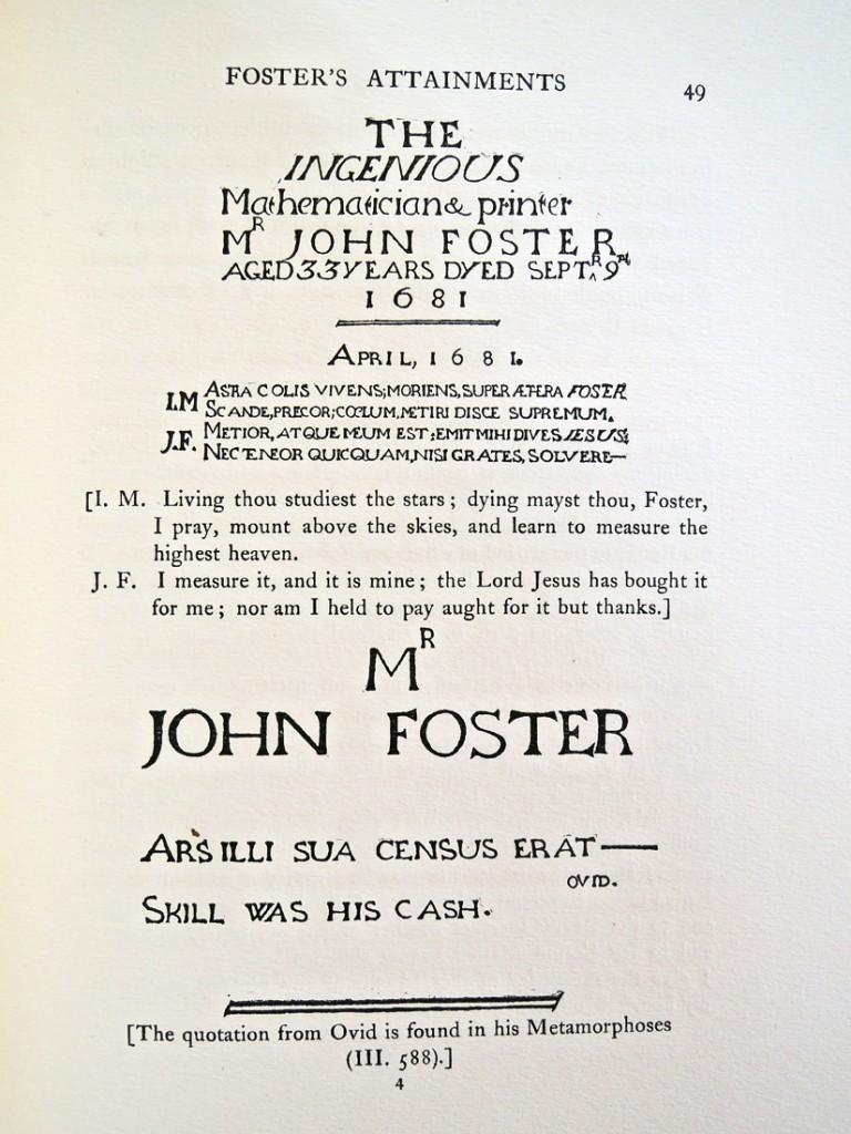john foster epitaph