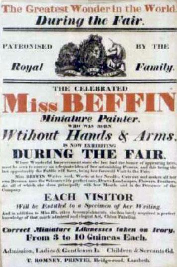 1812 Broadside for Sarah Biffen