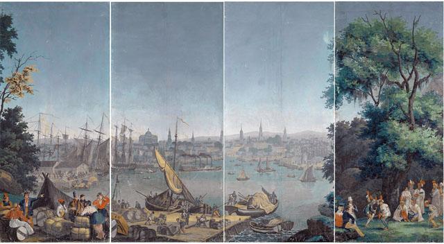 1920px-Panoramatapete_Hafenszene_in_Boston_1834