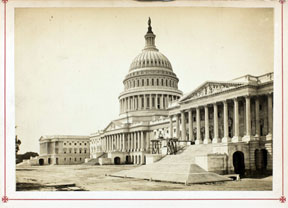 William Bell (American, born England, 1830-1910), United States Capitol Building, 1866, albumen silver print, Museum Purchase: Photography Fund, no known copyright restrictions, 2003.26.1