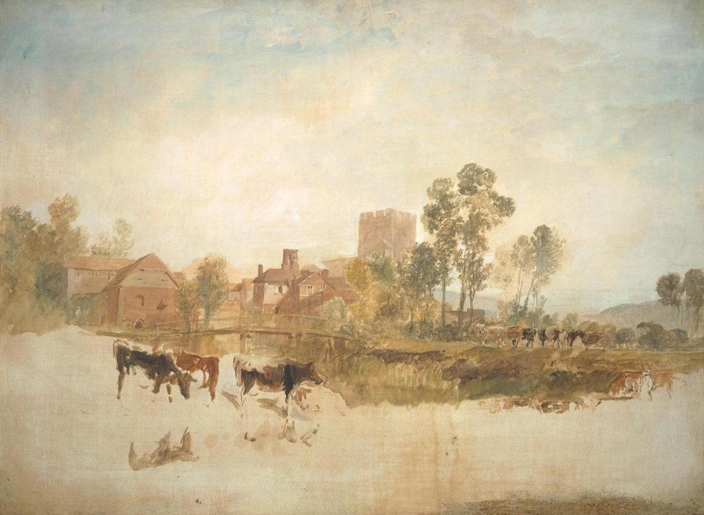 Goring Mill and Church c.1806-7 Joseph Mallord William Turner 1775-1851 Accepted by the nation as part of the Turner Bequest 1856 http://www.tate.org.uk/art/work/N02704