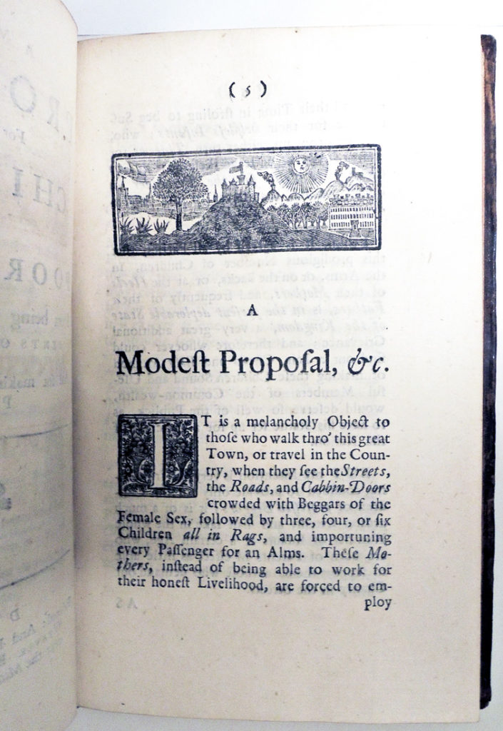 an overview of the irish people in the novel modest proposal by jonathan swift
